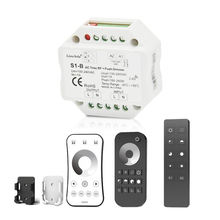 Triac LED Dimmer 220V 230V 110V AC Wireless RF Dimmable Push Switch with 2.4G Remote Controller for Single Color LED Bulb Lamps