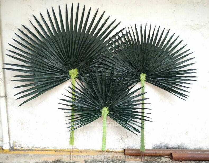 Outdoor Decorative Artificial Plants Fake Palm Tree With Leaves artificial palm fronds