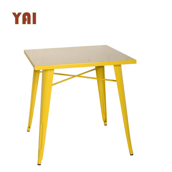 cheap Restaurant Used French 4 Person Industrial style dining room cafe dining metal antique square table