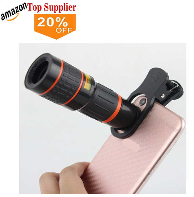 Amazon best sellers 2018 trending Mobile phone accessories optical clip telescope 18X telephone zoom camera lens for cellphone