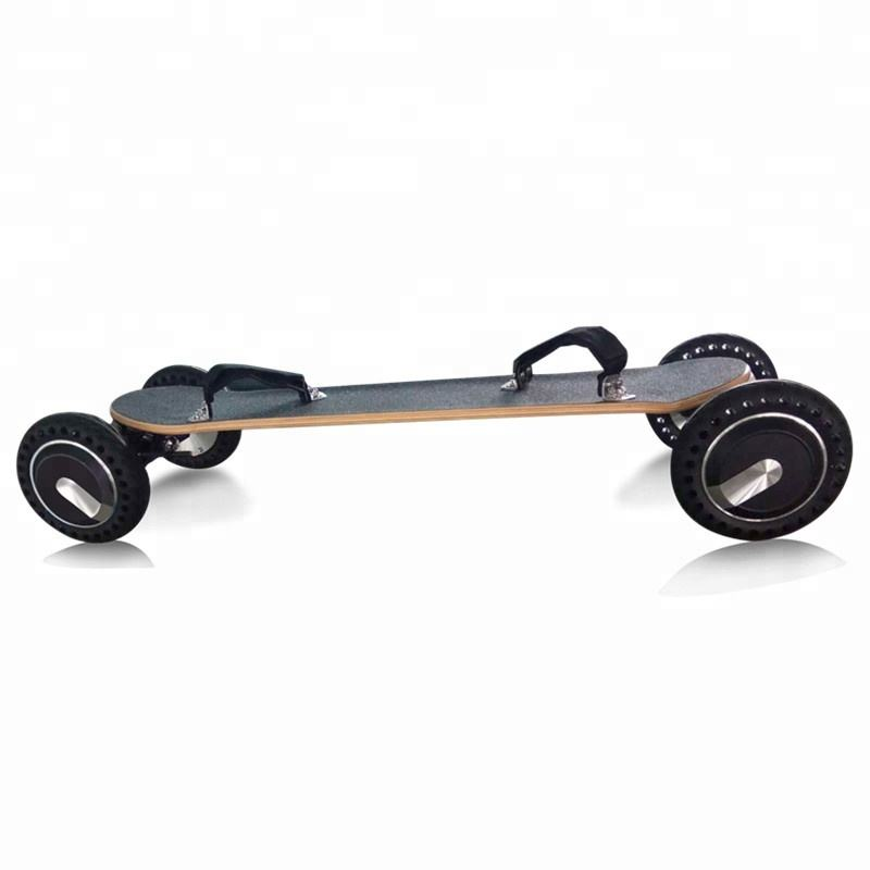 New design dual motor 4 wheel off road electric skateboard 800w