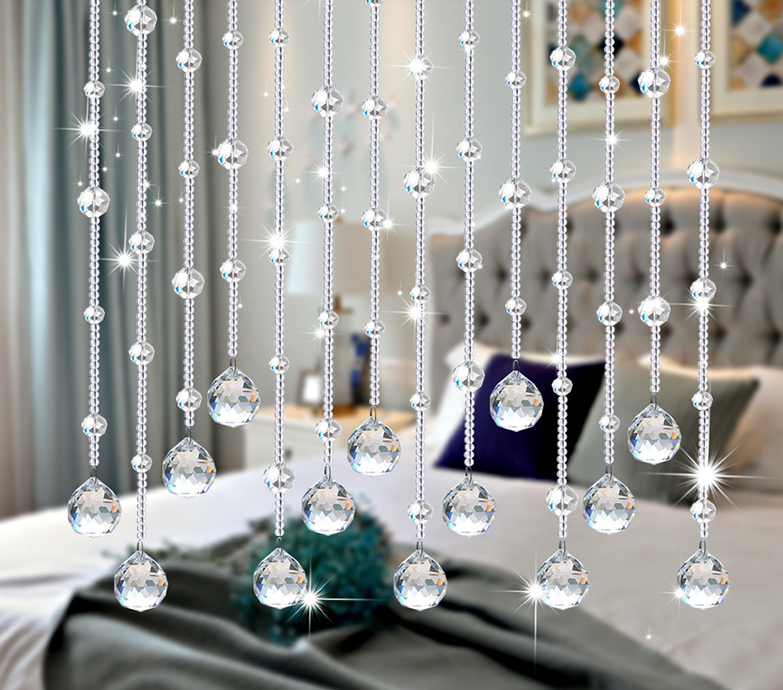 hanging tree clear crystal beads for decoration
