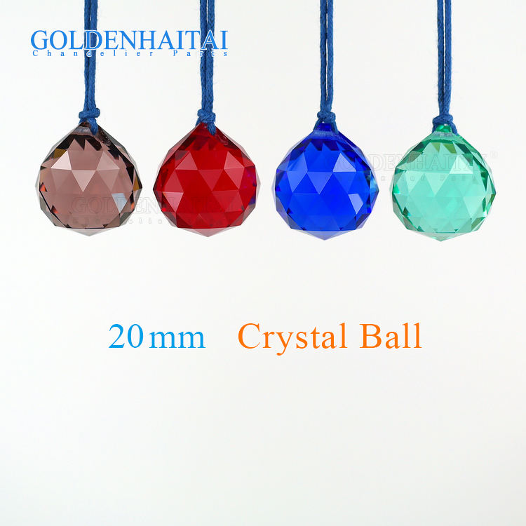 20mm colorful crystal hanging faceted ball prism for chandelier lighting lamp, ornament, curtain