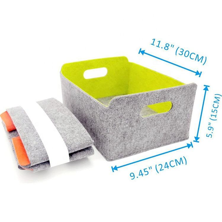 Foldable Felt Storage bin Organizer Baskets for Kids Toy Clothing Magazine Newspaper