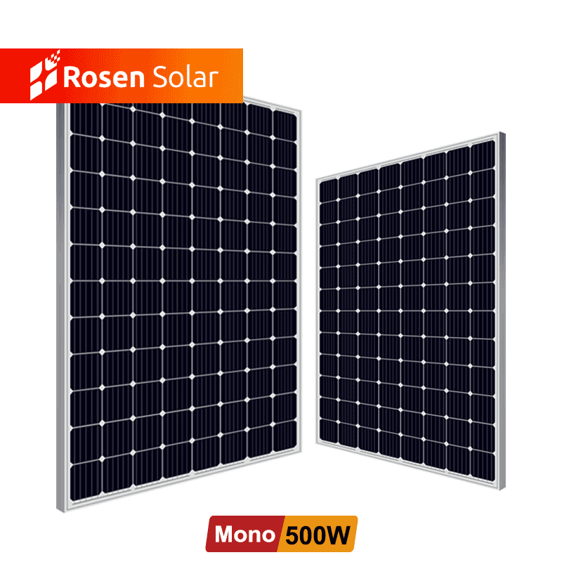 Rosen Mono Solar Cell Panel Container 400W 460W Solar Panel 500W For Home Solar System
