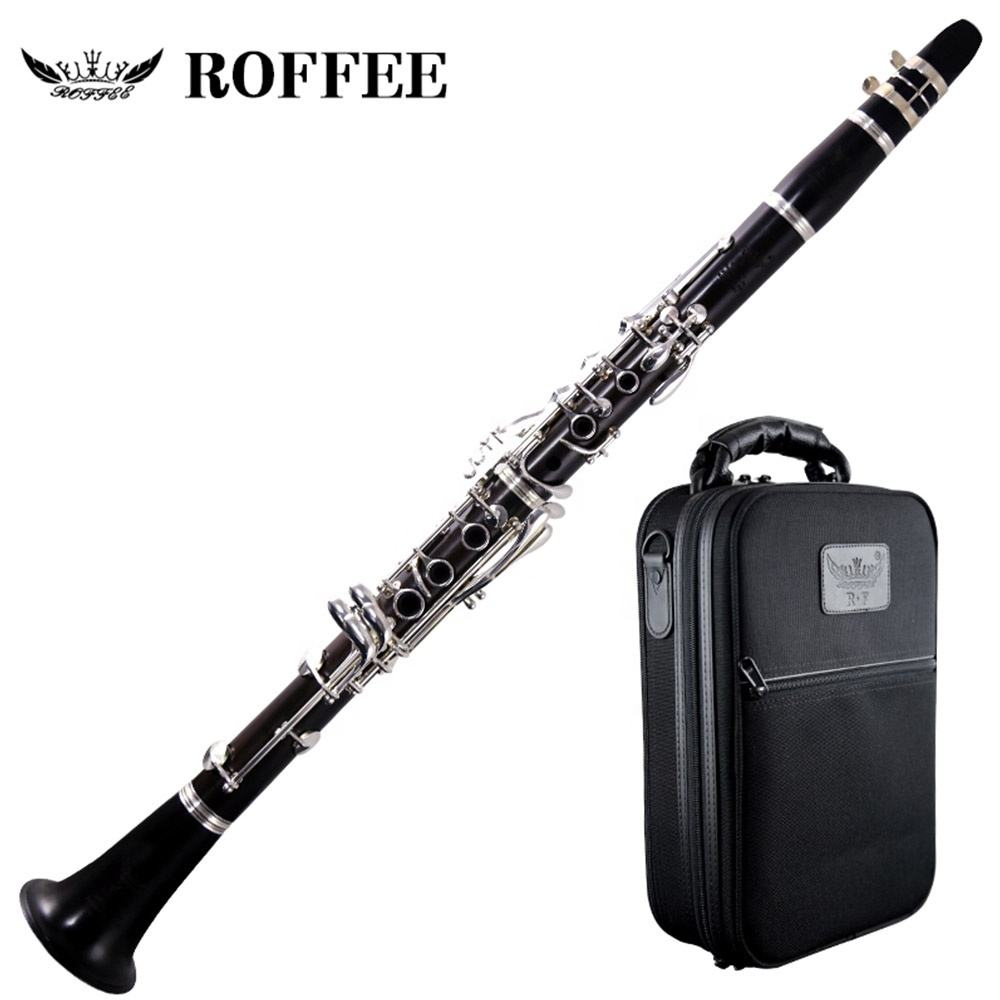 ROFFEE Professional Performance Level 17 คีย์เงินโทน Bb Ebony ไม้ Clarinet