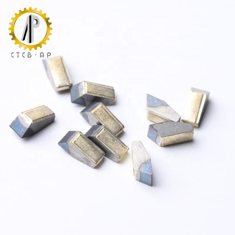 Silver solder pre-tinned tungsten carbide saw tips