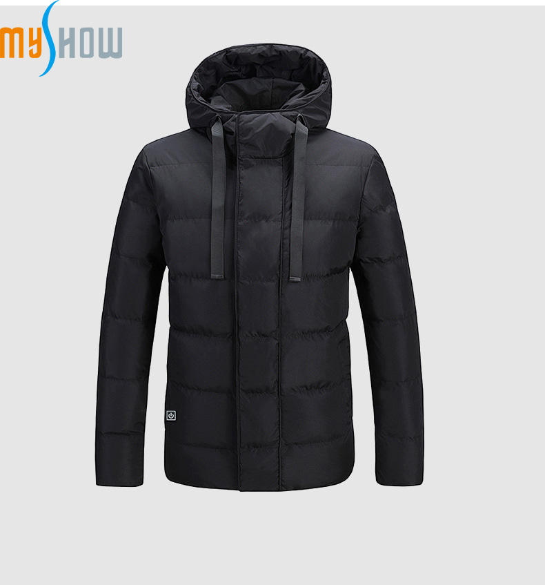2019 Good Looking Trending Customs Electric Waterproof Padding Jacket Battery Heated Coat For Winter