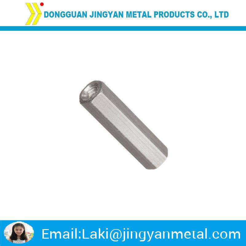 Entretoises en aluminium, 3/8in OD, 1dans Longue, 8-32 fils tout le chemin que