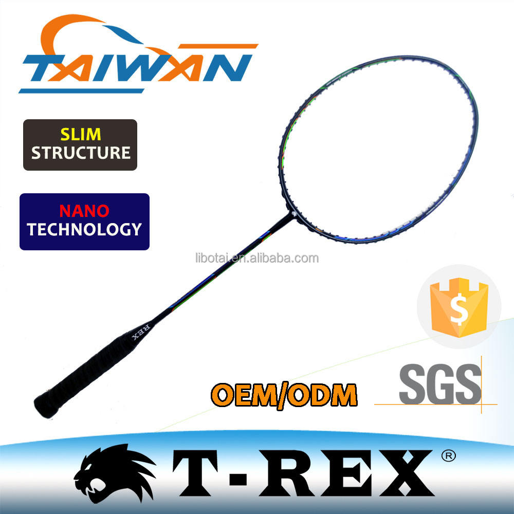 Taiwan new designed original carbon fiber frame badminton racket