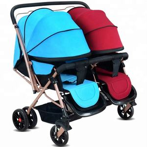 Advanced ventilation shock absorb Twin trolley/detachable anti-UV lithe umbrella prammer/folding light Baby carriage price