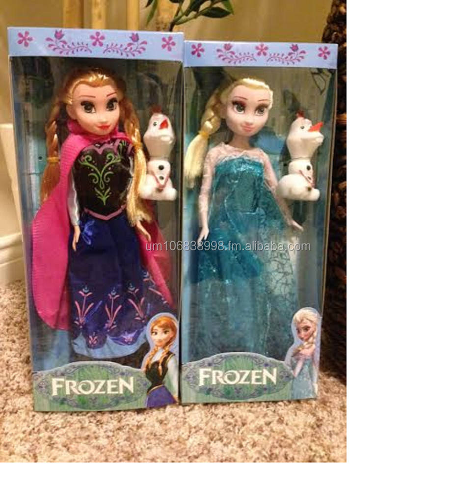 Frozen Themed Anna Elsa and Rapunzel Cover 18.2cm x 13cm 8pp Coloring Paper with 5 colour pencils Set Blue