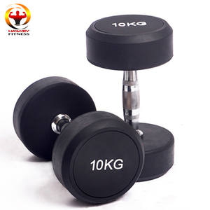 10kg Rubber dumbbell set with Customized Logo