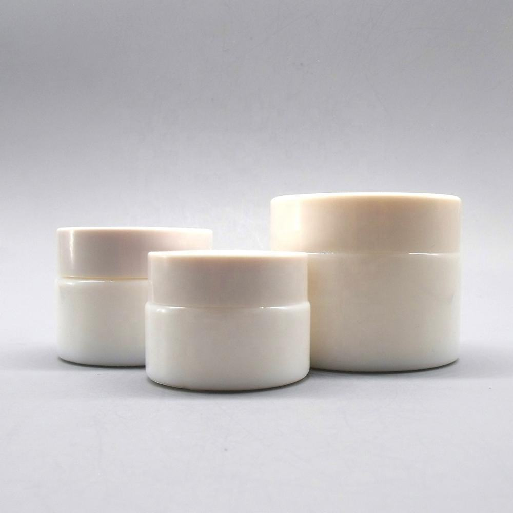 Wholesale porcelain/ceramic skincare for cream packaging cosmetic jar glass 60 ml