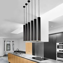 Modern Contemporary Tube Metal LED Pendant Lights Dining Room Kitchen Island