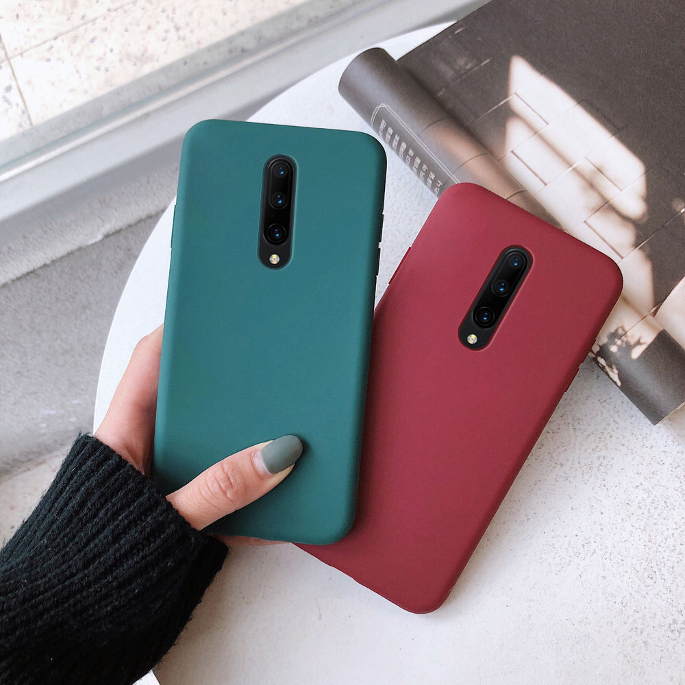 Shock Absorption TPU Rubber Gel Mobile Back Cover Case For One Plus 7Pro