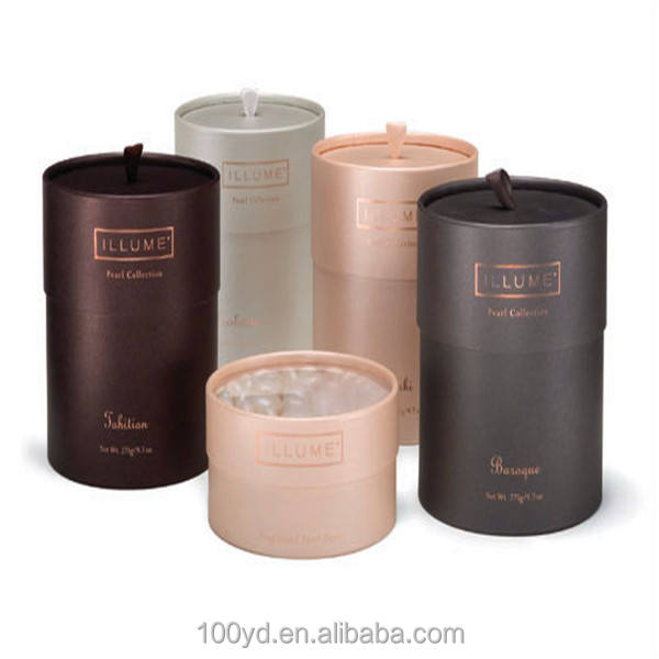 High-end tealight candle kraft paper packaging box kraft paper round candle box