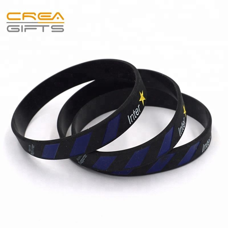Custom Unique Debossed Hand Band/Cheap Printed Silicone Wristband/Rubber Bracelet Manufacturer