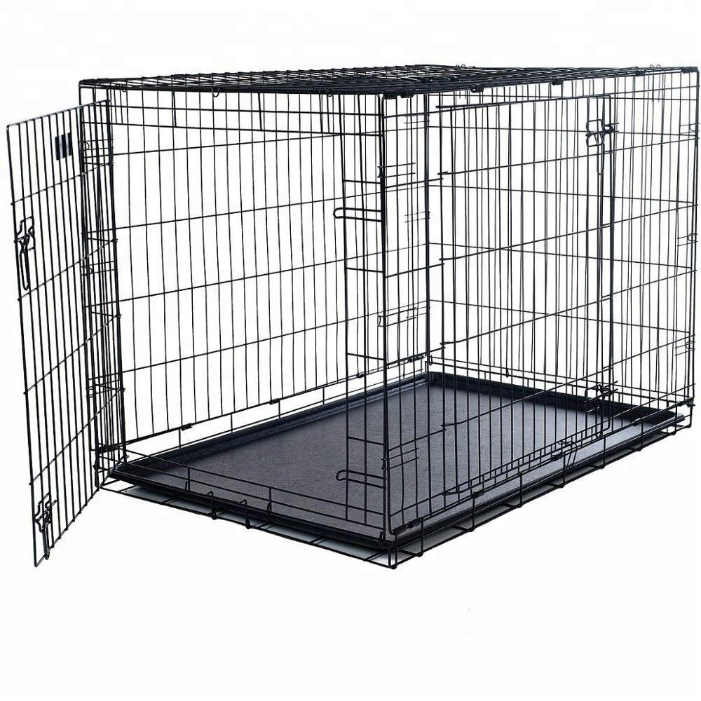 Wholesale Cheap Large Size Iron Metal Dog Show Cage With Tray And Lock For Sale