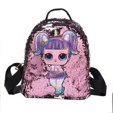 2019 new version of the tide fashion children's sequins backpack cute wild small backpack  Girls Magic Kids School Backpack