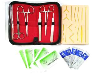 3 Layer Suture Practice Pad Skin Sutures Surgical Practice Suture Kit