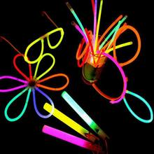 "100 Mixed Customized Glow Stick Party Pack 8"" light sticks with Connectors"