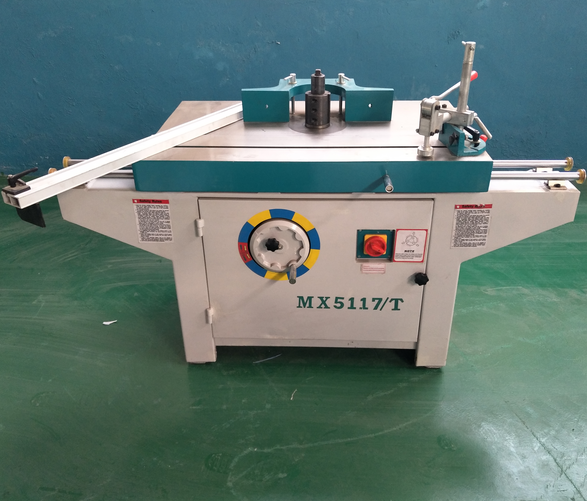MX5117/T Single Spindle Vertical Milling Machine Wood Spindle Shaper With sliding Table Spindle Moulder
