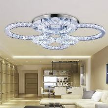 LED Modern K9 Clear Crystal Ceiling Light Pendant Lampe Chandelier Lighting