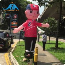 Advertising Air Dancer With Waving Hands Customized Cartoon Sky Dancer Puppet Waving Man