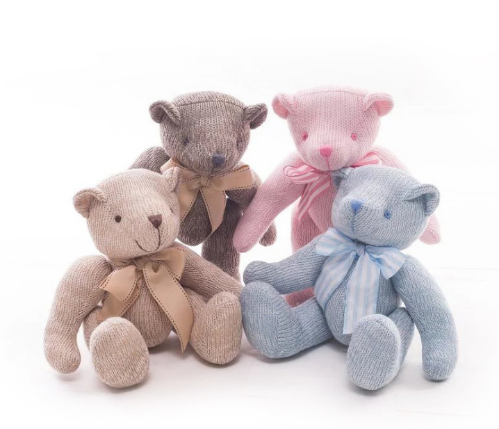 Knitted Plush Bear Colored Plush Bear LOW MOQ Soft Toys For Sale