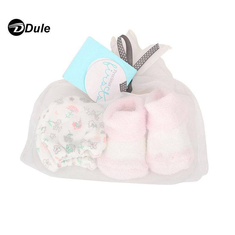 201903 cute baby gloves soft plain cheap wholesale newborn baby no-scratch gloves mittens and socks gift set
