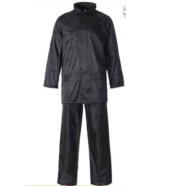 Mens Ladies UNISEX Womens Hooded Rainsuit Waterproof PVC Puddle Work Rain Wear