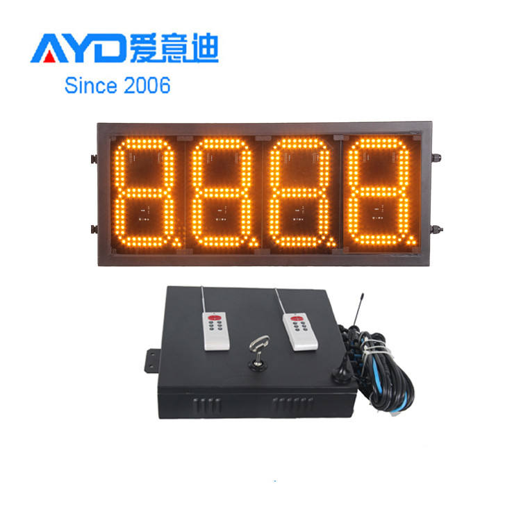 16 Inch Wholesale LED Gas Price Signs 7 Segment IP65 Outdoor Use Super Bright LED Gas Price Display Board with Control System