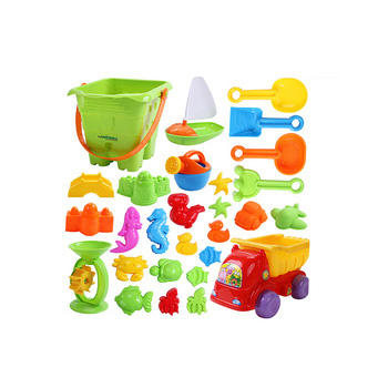 Hot sale funny 28pcs mini sand castle molds toy