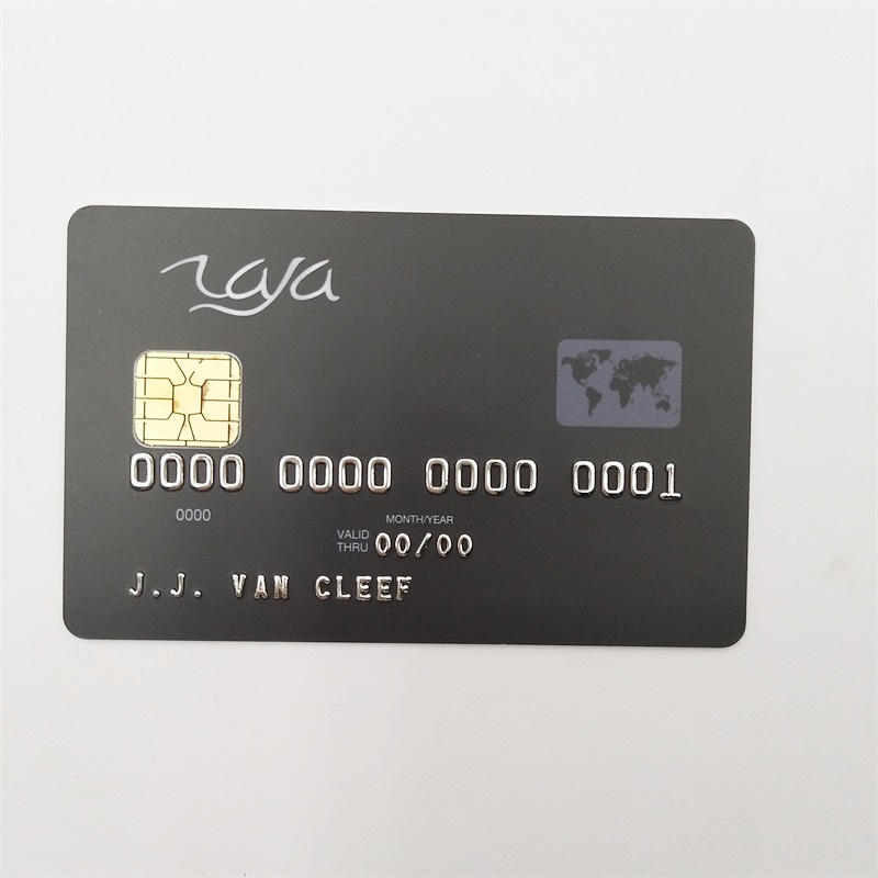 Embossed Number gold chip Smart Card Plastic IC Card