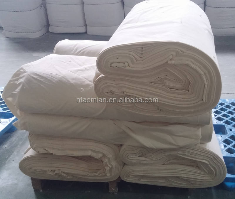 100% cotton calico fabric natural color unbleached undyed