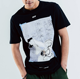 Street Fashion Abstract Doodle Arrow Men's Casual Short-sleeved T-shirt