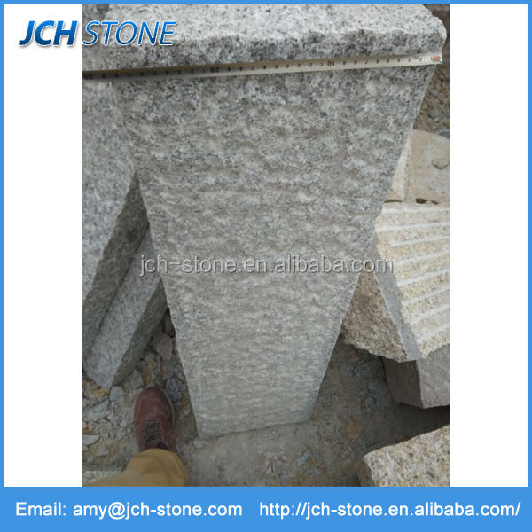 G603 granite wholesale kerbs and palisades all sides pineapple