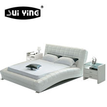 A059 high quality beautiful design modern white casual bedroom bed