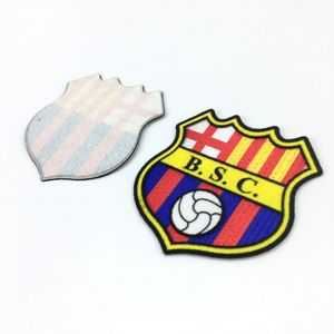 Personalized Design Heat Transfer Printing Custom Football Team Club Logo 3D Flocking Patch