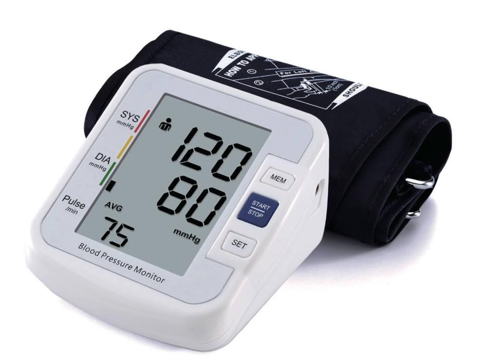 Parte superior del brazo automático digital monitor de presión arterial metro CE aprobado tensiometro digital