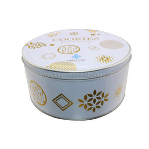 round cake packaging tins empty tin box for sale
