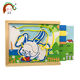 Animal string puzzle colorful custom board game wooden jigsaw puzzle toy
