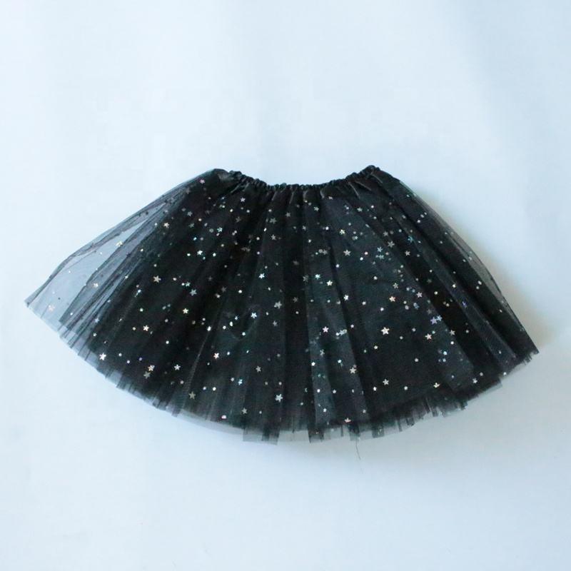 Gold Polka Dot Tutu Skirt in Black from Chunks of Charm