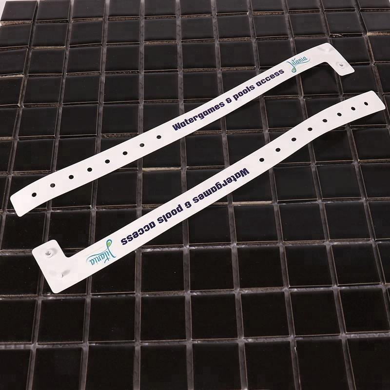 New custom logo theme party one-off vinyl paper wristbands