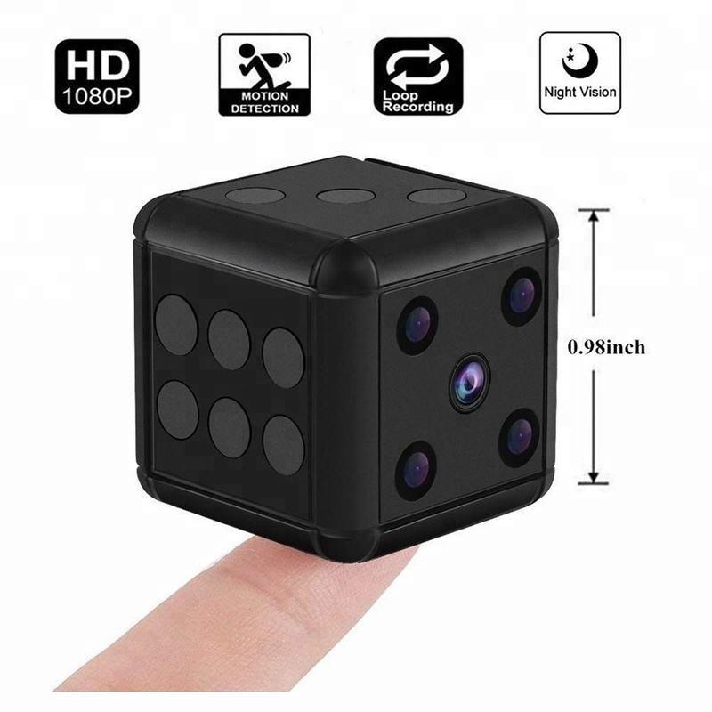 SQ16 1080P HD Dice Mini Hidden Camera Microphone Spy Hide Keychain Cam Security