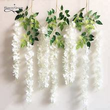 IFG Artificial Silk Flower Wisteria Hanging Garland for Garden Wedding Decor