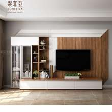 Modern design living room furniture wooden TV stand/TV console/TV cabinet with wall unit