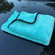 1000GSM 50x70cm High Quality Super Plush Large Microfibre Drying Towel Absorbent Car Wash Towel for Auto