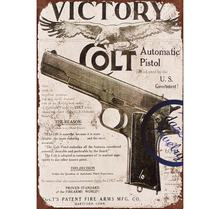 Wholesale High Quality Gun Pattern Small Retro Blanks With Saying Metal Wall Signs